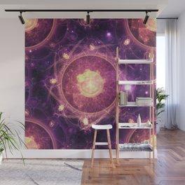 Emblazoned Gold & Royal Purple Mandala of the Stars Wall Mural