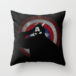 SuperHeroes Shadows : Captain America Throw Pillow