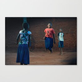 Nelly playing Canvas Print