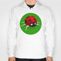 ladybug Hoodies featuring LADYBUG by Ken Forst