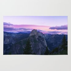 The Mountains and Purple Clouds Rug