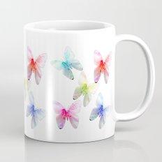 Colorful flowering butterflies. Floral photo art. Mug