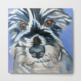 Elvis the Dog Portrait Metal Print