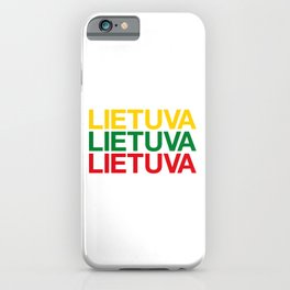 LITHUANIA iPhone Case