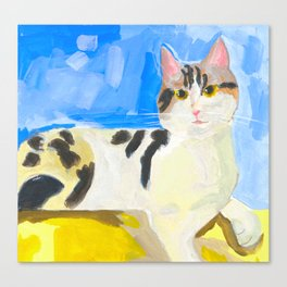A Cat by the Window on a Sunny Day Canvas Print