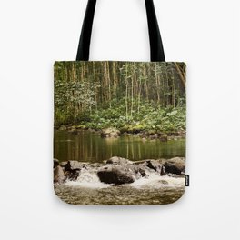 Waipio Valley River Tote Bag