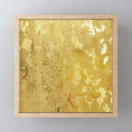 golden vintage Framed Mini Art Print
