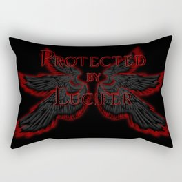 Protected by Lucifer Dark Rectangular Pillow