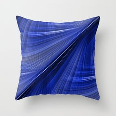Indigo Blue Electric Highway Throw Pillow