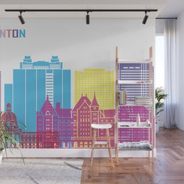 Edmonton skyline pop Wall Mural