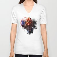 red hood V-neck T-shirts featuring Red Hood by Vincent Vernacatola