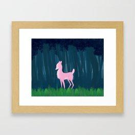 Pink Deer Framed Art Print