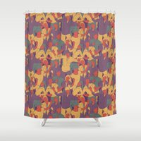 rave Shower Curtains featuring Rave from nineties by Saprykinandrey