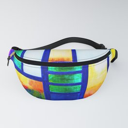 Art Deco Colorful Stained Glass Fanny Pack