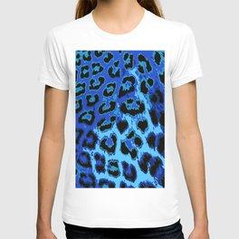 Blue Leopard Spots T-shirt