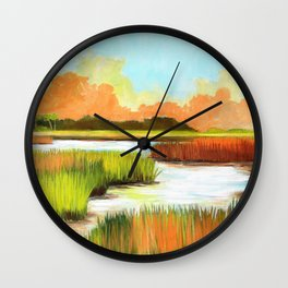 Low Country Marsh Wall Clock