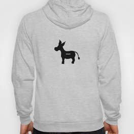 Smart! - Smart Donkey - Funny Art- Silhouette - 57 Montgomery Ave Hoody