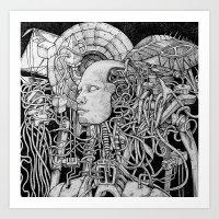 robot Art Prints featuring Robot by Walid Aziz