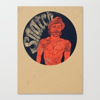 snatch Canvas Prints featuring Snatch by javier millan