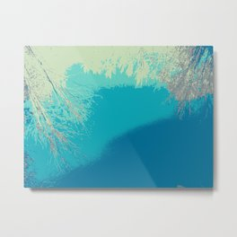 Blue fall Metal Print