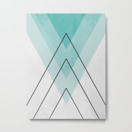Mountain geometry Metal Print