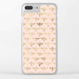 Honey Bees (Pink) Clear iPhone Case