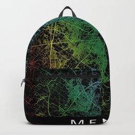 Meerut, Uttar Pradesh, India, Rainbow, City, Map Backpack