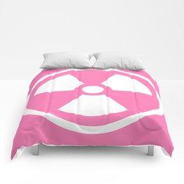 Pink Radioactive Symbol Comforters
