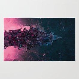 The Technocore / 3D render of futuristic structure Rug