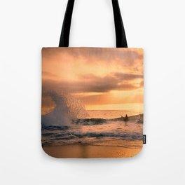 Autumn Wave Tote Bag