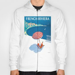 1954 FRENCH RIVIERA Travel Poster Hoody