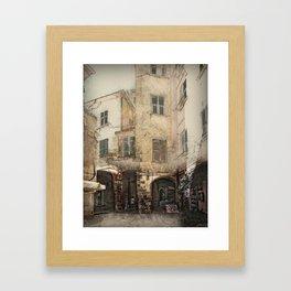 Monterosso Backstreet Framed Art Print