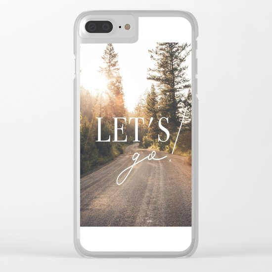 Lets go! Clear iPhone Case