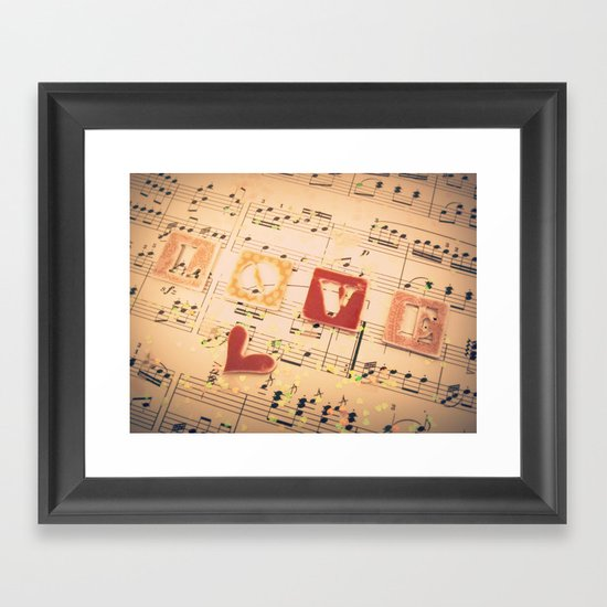 Music is Love in Search of a Word - ANALOG zine Framed Art Print