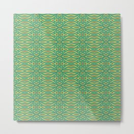 Abstract pattern in green Metal Print