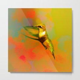 End of Summer Hummingbird Metal Print