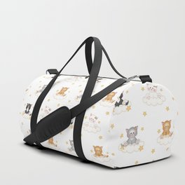 Cat Kitten Baby Girl Nursery Room Decor Duffle Bag