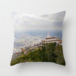 Cerro de Monserrate Throw Pillow