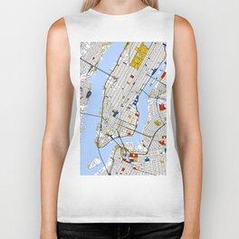 New York City , Map Art Print / Street Map Art Biker Tank