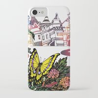 cycling iPhone & iPod Cases featuring Summer Cycling by Natsuki Otani