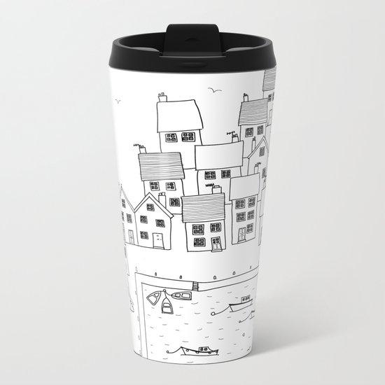 Harbour sketch Metal Travel Mug
