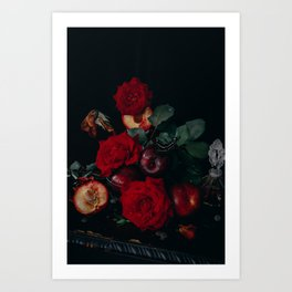 Plums & Roses by Brenna Parkins Art Print