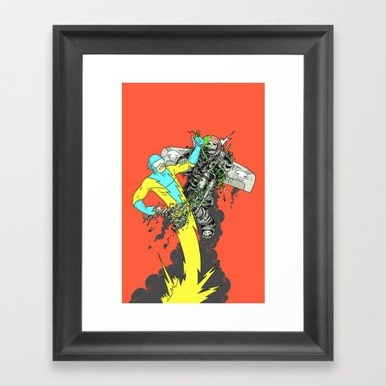 Deathwing's demise Framed Art Print
