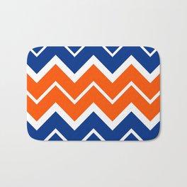 Big Chevron:  Blue + Orange Bath Mat