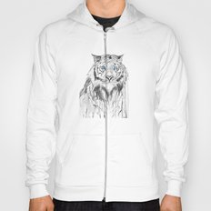 Tiger, black and white Hoody