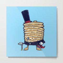 Fancy Captain Pancake Metal Print