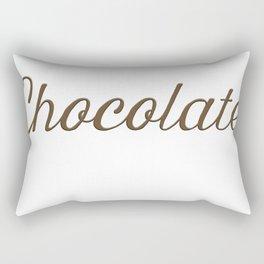 Chocolate Script Rectangular Pillow