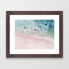 Ocean Pink Blush Framed Art Print