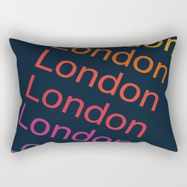 London typography cities england anglophile 70s throwback style retro vibes Rectangular Pillow