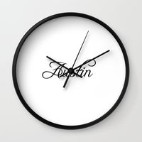 austin Wall Clocks featuring Austin by Blocks & Boroughs